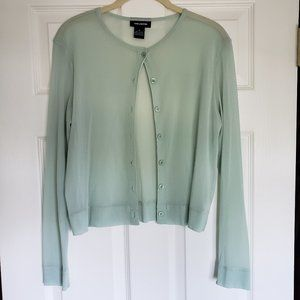 The Limited Sheer Light Green Long Sleeve Top